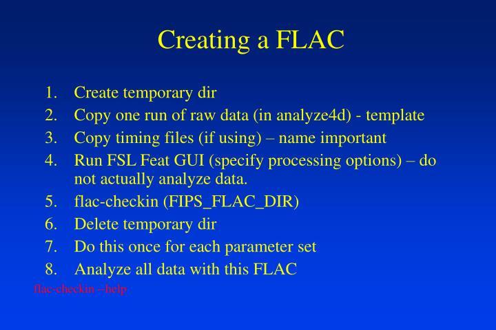 Creating a FLAC