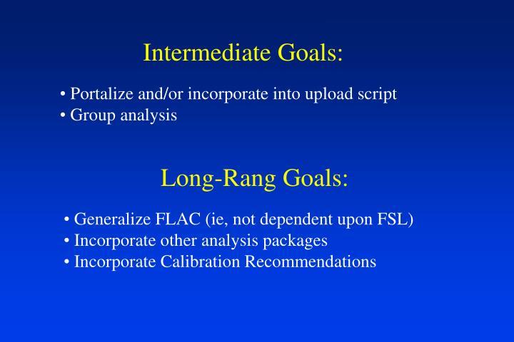 Intermediate Goals: