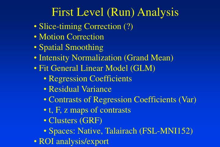First Level (Run) Analysis
