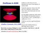 outflows in agn