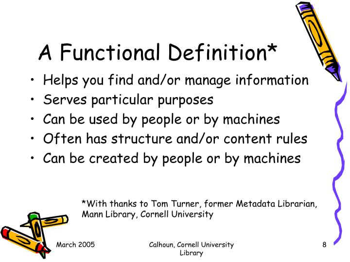 A Functional Definition*