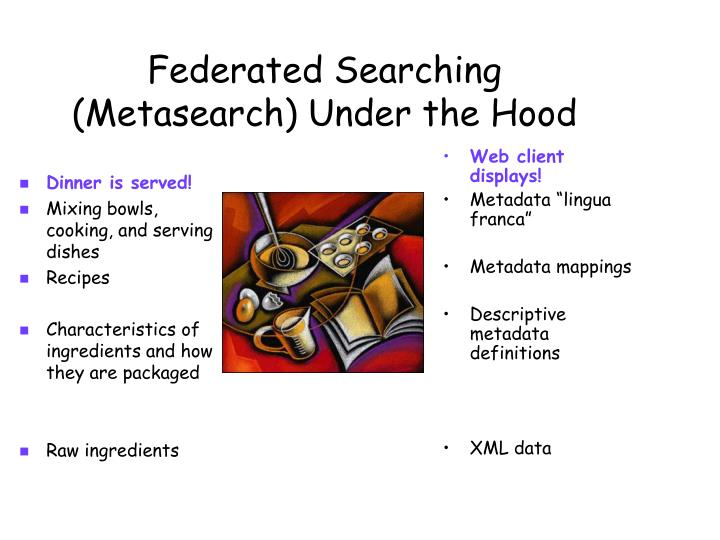 Federated Searching (Metasearch) Under the Hood