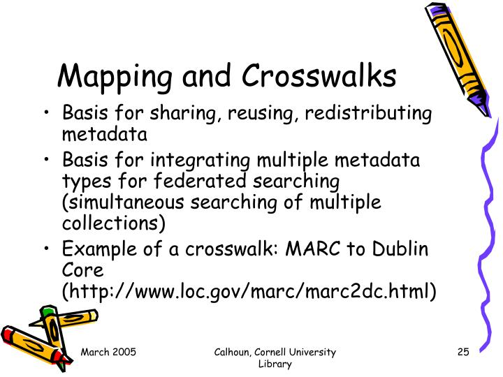 Mapping and Crosswalks