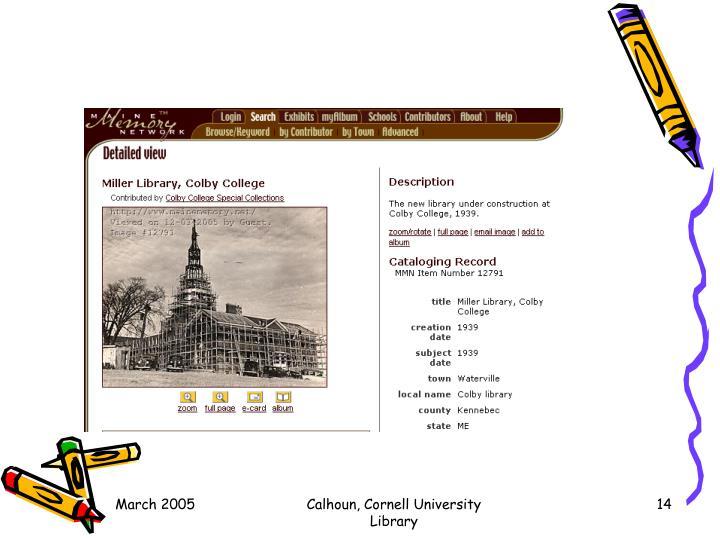 Calhoun, Cornell University Library