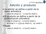 adici n y producto