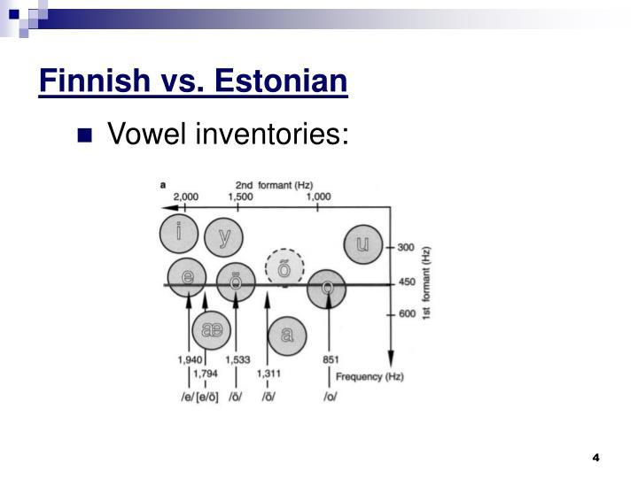 Finnish vs. Estonian