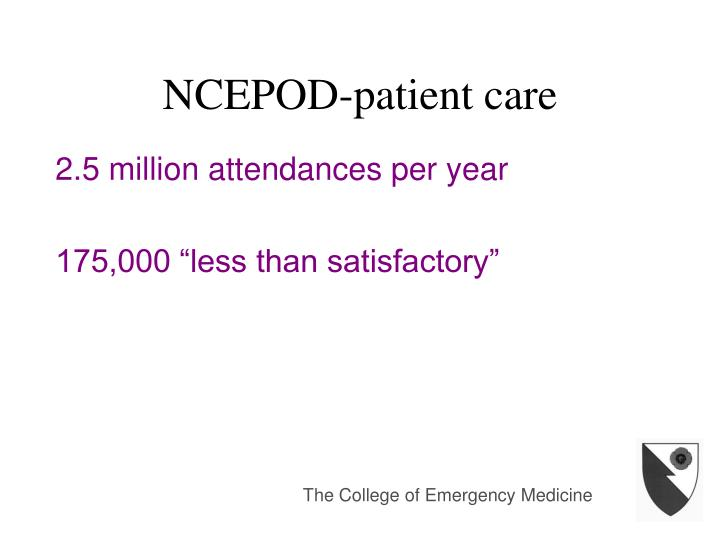 NCEPOD-patient care