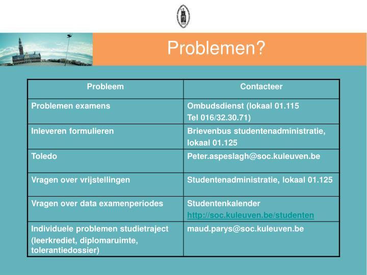 Problemen?