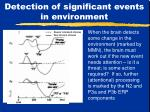 detection of significant events in environment