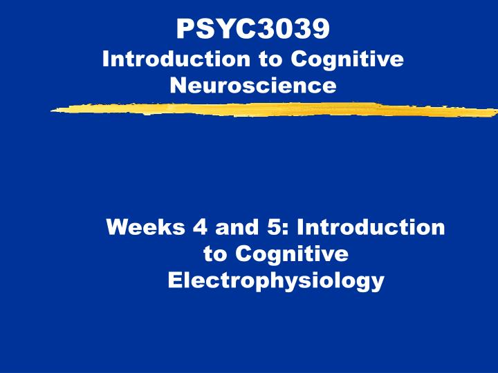 psyc3039 introduction to cognitive neuroscience n.