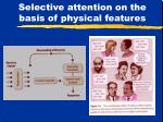 selective attention on the basis of physical features