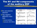 the n1 and nd components of the auditory erp