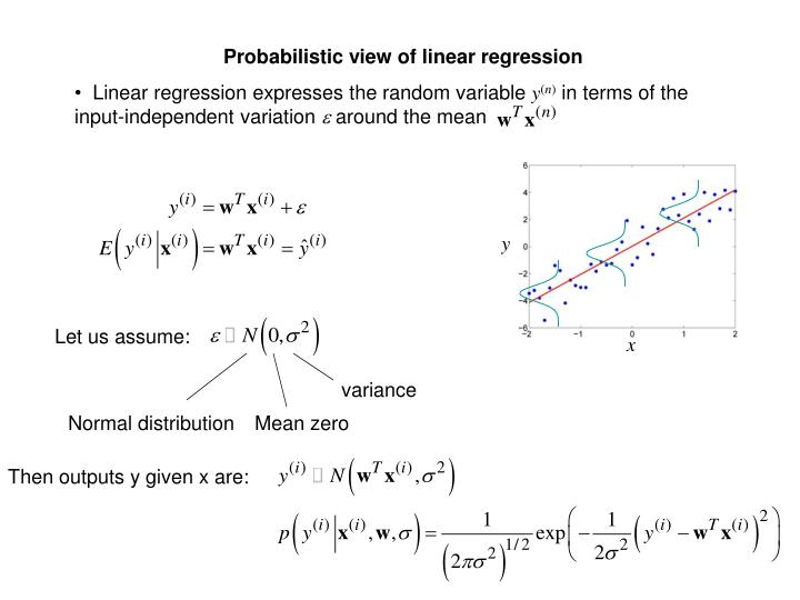 Probabilistic view of linear regression