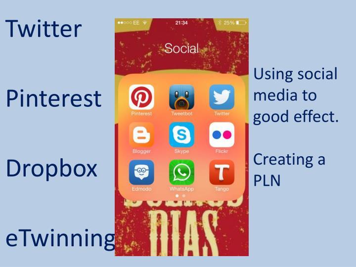 Using social media to good effect.