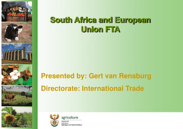 South africa and european union fta