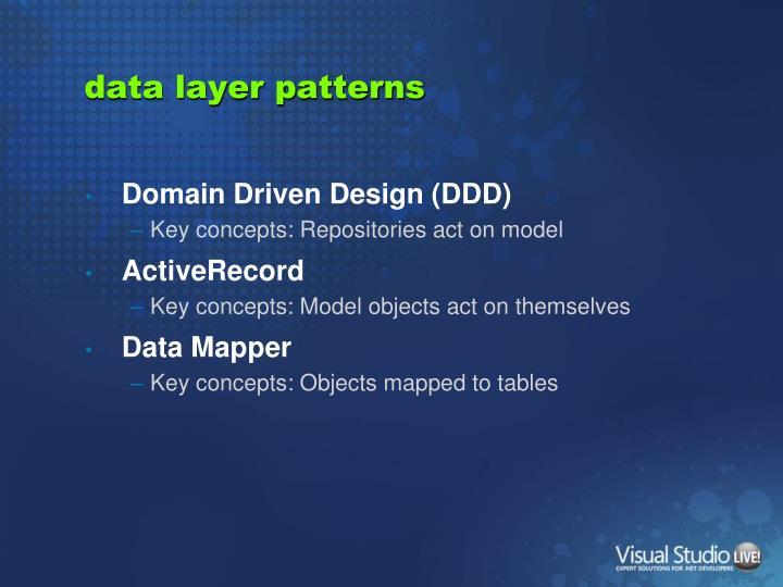 data layer patterns