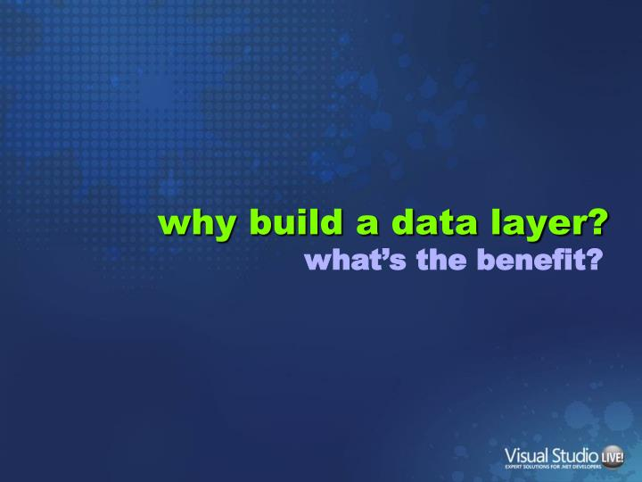 why build a data layer?