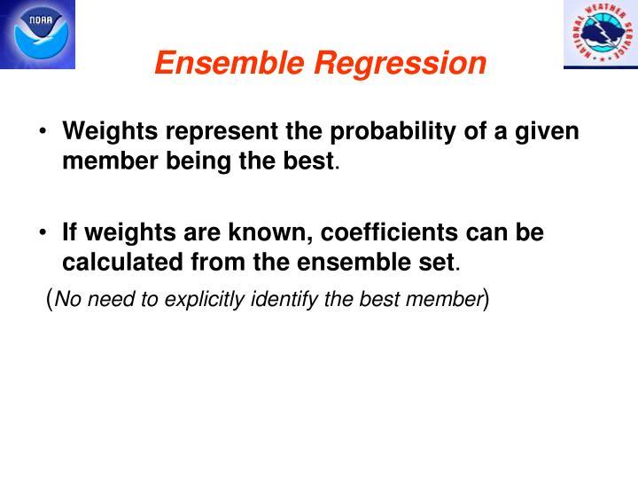 Ensemble regression