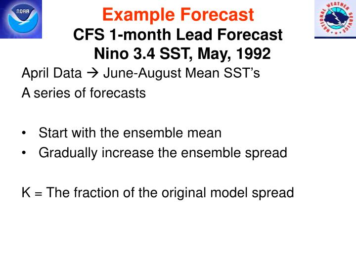 Example Forecast