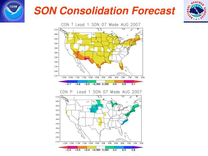 SON Consolidation Forecast