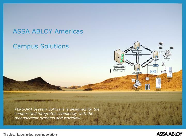 Assa abloy americas campus solutions