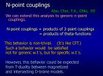 n point couplings