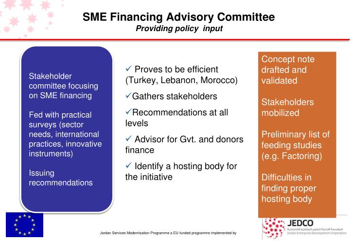 sme financing in japan characteristics and Roles and characteristics of the sme unit 7 supported the financing of smes and micro businesses which are (sme) unit japan finance corporation.
