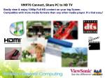 vmp70 connect share pc to hd tv
