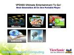 vpd400 ultimate entertainment to go next generation all in one portable player