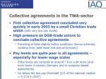 collective agreements in the twa sector