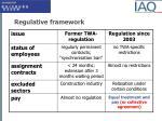 regulative framework