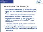 summary and conclusions a