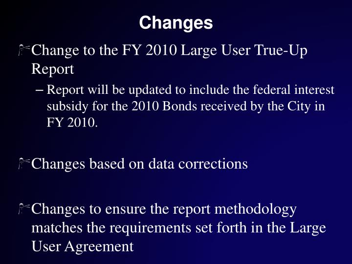 Ppt large users meeting 2010 large user true up report review of change to the fy 2010 large user true up report platinumwayz