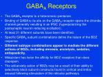 gaba a receptors