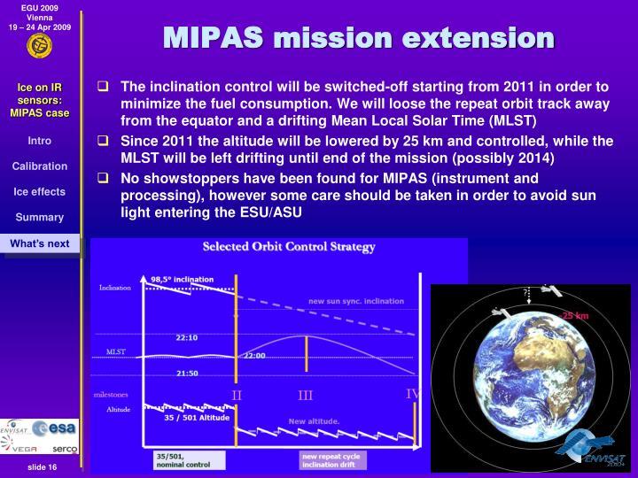 MIPAS mission extension