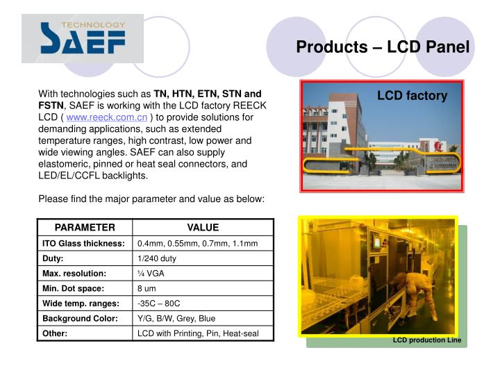 Products – LCD Panel