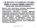 1 b sanksi pidana dan denda pasal 85 undang undang nomor 43 tahun 2009 tentang kearsipan
