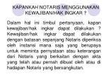 kapankah notaris menggunakan kewajiban hak ingkar