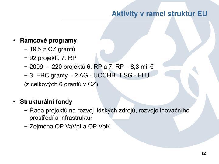 Aktivity v rámci struktur EU