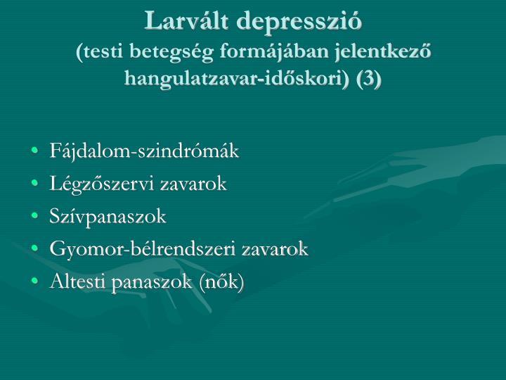 Larvált depresszió