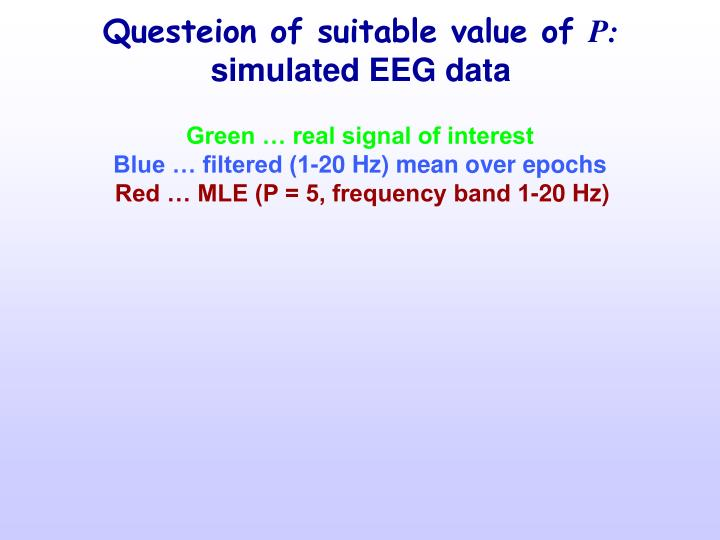 Questeion of suitable value of