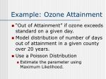 example ozone attainment