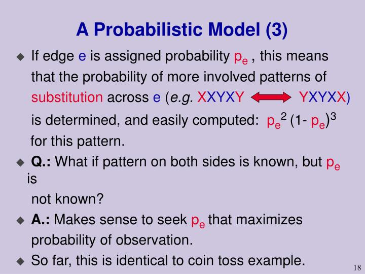 A Probabilistic Model (3)