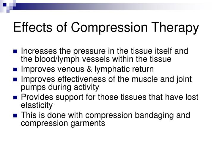 Effects of Compression Therapy