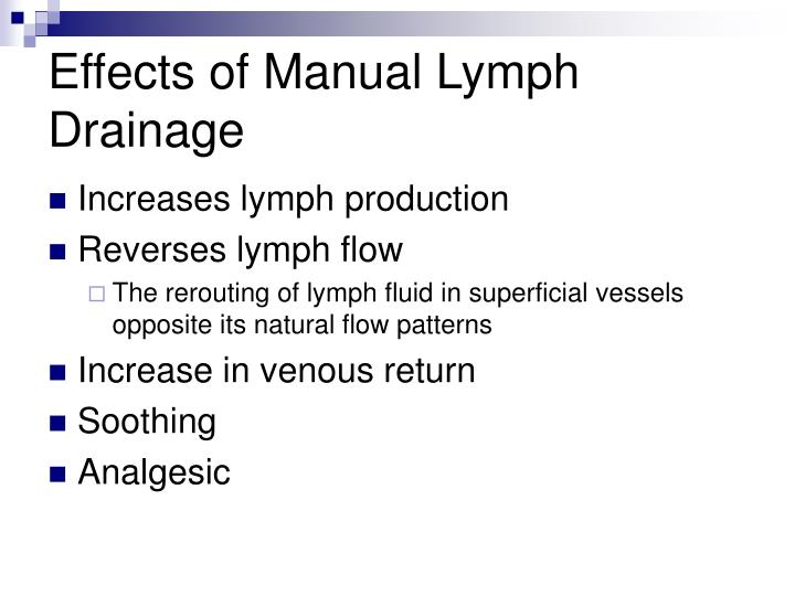 Effects of Manual Lymph Drainage
