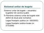 sistemul unitar de bugete