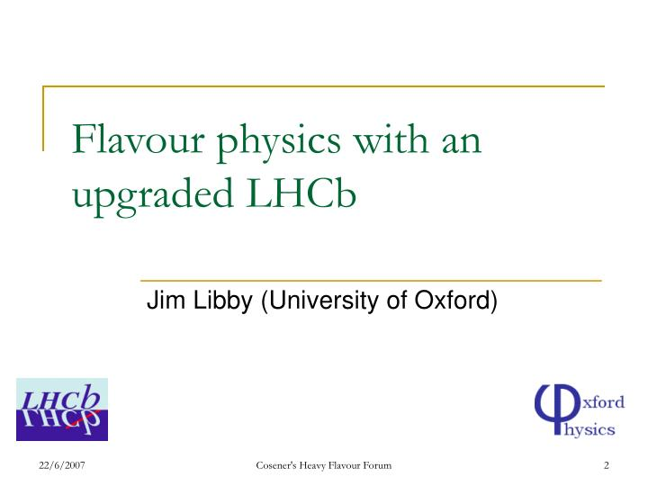 Flavour physics with an upgraded lhcb