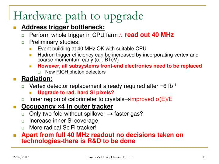 Hardware path to upgrade