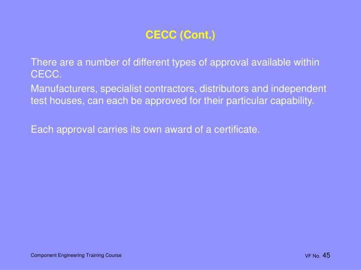 CECC (Cont.)