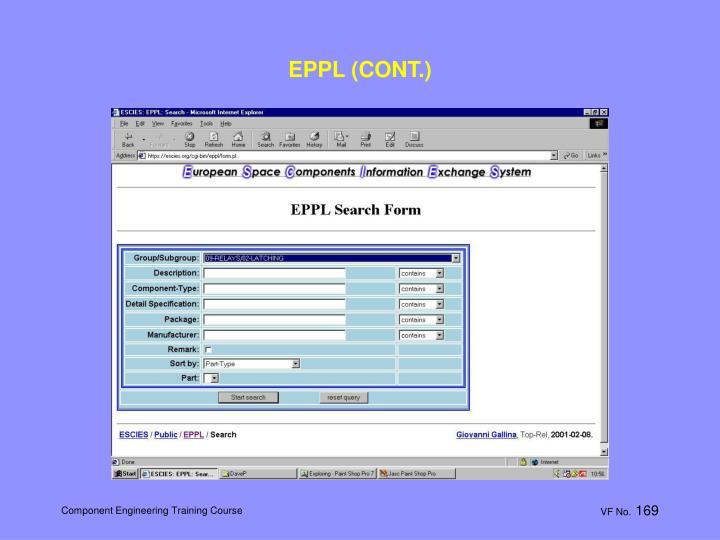 EPPL (CONT.)